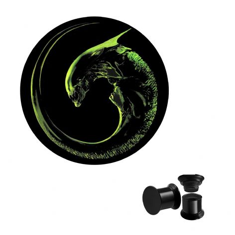 Alien Xenomorph Screw Ear Plug Body Jewellery
